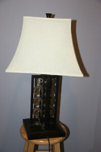 Iron Cast Table Lamp. Works fine.