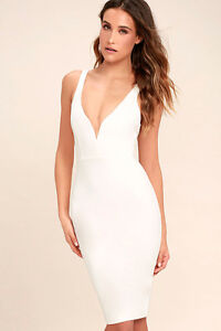 "Gracefully Yours ""Lulus"" White Dress for Sale"