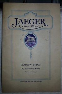Antique 1922 Brochure Pamphlet Catalog JAEGER PURE WOOL