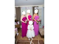 3x ebony rose bridesmaid dresses