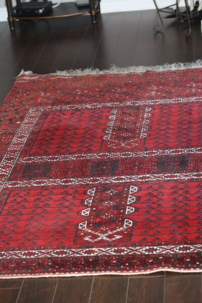 Hand Knotted Persian Carpet Turkman Vibrant Color Wool Rug