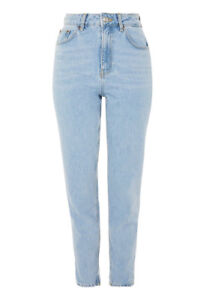 Top Shop Mom Jeans - Blue and Black