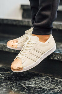 ADIDAS SUPERSTAR ROSE GOLD METAL TOE