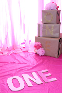 Decorations for girls first birthday!