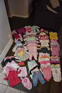 Girls clothes 3-6 months, 80 items