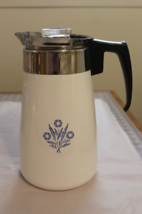 Corning Ware Blue Cornflower Coffee Pot