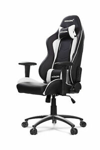 AKRacing Nitro Gaming/Office Chair ComputerChair - Black/White