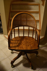 Oak and Caning Chair for sale