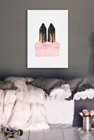 Framed Night Out Stilettos Jimmy Choo Wall Art by Oliver Gal