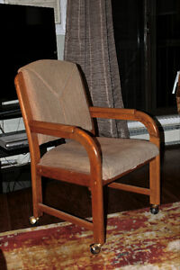 Padded Oak Chairs - reduced to sell