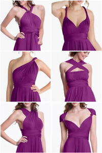 Henkaa Infinity Wrap Dress for Bridesmaid, Prom, Formal