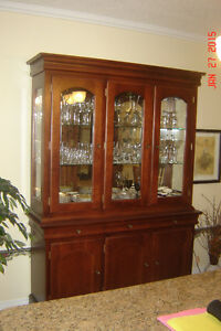 """Hutch with buffet, Bermex, color cognac, cherrywood"""