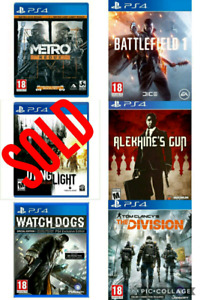 Sony PlayStation 4 Games For Sale