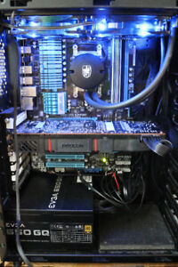 Liquid cooled 6 Core R9 290 4GB GPU  gaming PC+Windows - 650 CAD
