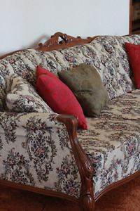 Antique French Provincial sofa and chair set