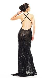 Black sequin scala dress