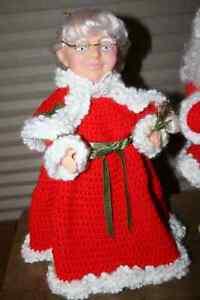 Vintage Crocheted Christmas Dolls- See photos Belleville Belleville Area image 4