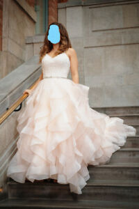 Robe de marriage rose/blanche  - Pink and White Wedding Dress