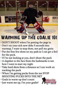 Hey ICE HOCKEY GOALIES!! ---LOOKING FOR ICETIME?