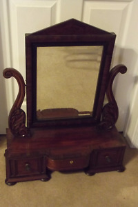 ANTIQUE TABLETOP DRESSING MIRROR