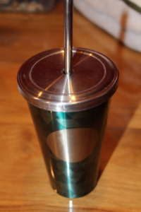 STARBUCK DRINKING CUP with STRAW