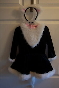Adorable Costume with headband and tail, crinoline, bodysuit.