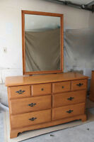 ROYAL IMPERIALIST DOUBLE DRESSER, NIGHT TABLE & MIRROR