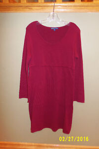 Burgundy Cotton Knit Dress From Thyme Maternity