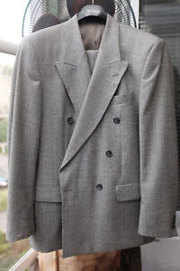 100% Italian wool Double Breasted Jacket and pans Size 40