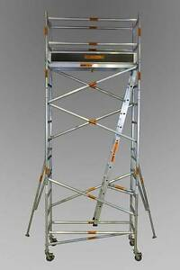 ALUMINIUM MOBILE SCAFFOLD 0.7m x 2.5m x 4.4m Platform Height Revesby Bankstown Area Preview