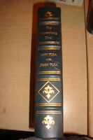 Notable Trials Library 2 Books Gold Trim Leather  REDUCED