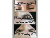 4D lashes, semi permanent lashes £30, acrylic nails £20, spray tans £15