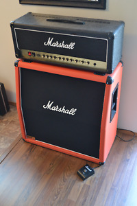 Marshall DSL100 Head and JCM1960A Guitar Amplifier in P.A.