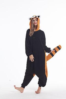 Women Men Unisex Adult Onesie0 Animal Racoon Kigurumi Pajamas Cosplay Costume