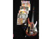 Wii guitar hero games and guitar