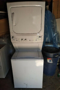 Ge Apartment Condo Stackable Washer Dryer 1 Yr Old White