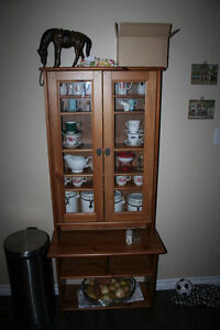 Great Condition Solid wood Kitchen cabinet/hutch. OBO