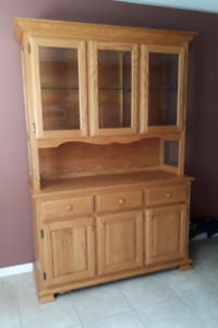 Oak hutch and display