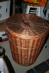 large size wicker laundry basket