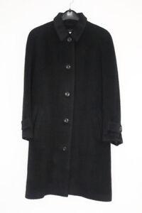 New Pure Llama Black Wool Alpaca Mohair Coat / US10 CDN8 GER38