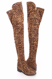 Size 8 and 9 Womens Thigh High Leopard Boots
