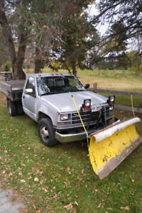 1989 4X4 one ton Dually with Plow