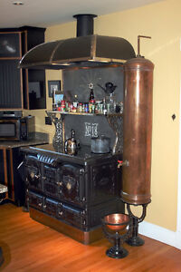 wood stove hot water tank