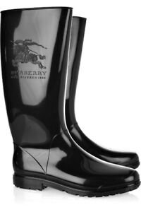 Authentic Burberry Equestrian Wellington Boots Size 36/6