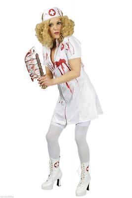 Krankenschwester Arzt Kostüme (Blutige Krankenschwester Kostüm Kleid Outfit Nurse Kittel Zombie Arzthelfer Arzt)