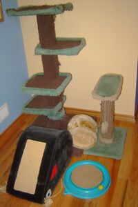 Cat cage and toys