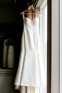 Mikaella Bridal Gown - Size 8 - Diamond White Kitchener / Waterloo Kitchener Area image 2