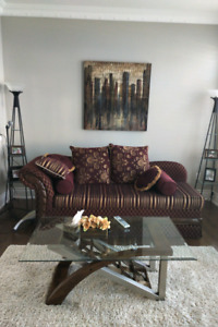 Selling Sofa and Side Lamps