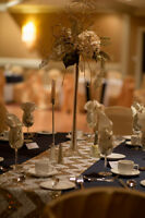 Elegant, Gold, Glitter, Lighted, Towering Table Centerpieces