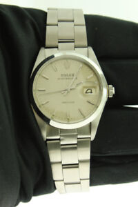 Rolex Oysterdate Precision Stainless Steel 34mm Silver Dial 6694